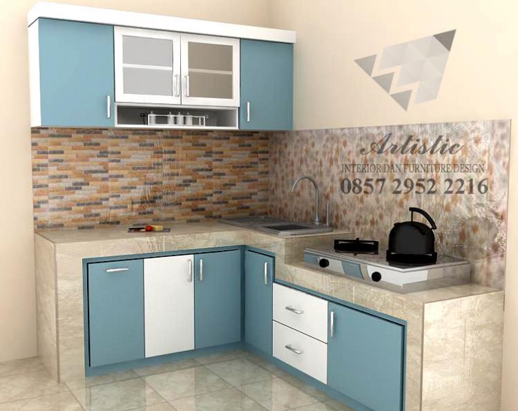 Kitchen Set Minimalis Bahan Multiplek Hpl Pesanan Bu Sovia