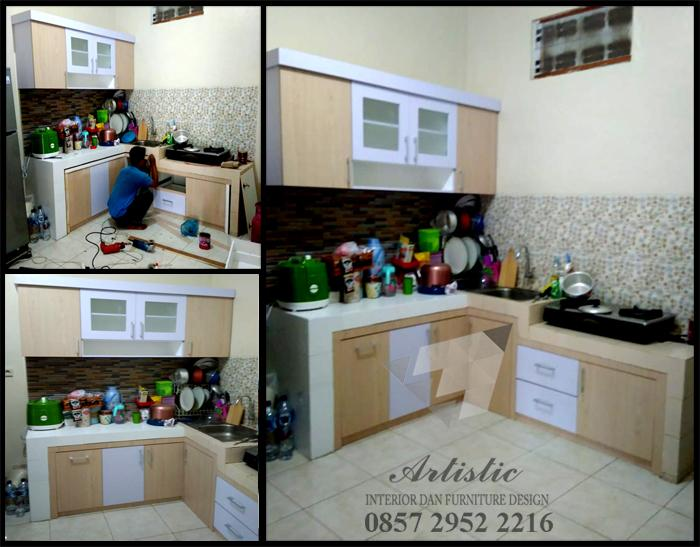 PROSES PENGERJAAN KITCHEN SET MINIMALIS